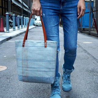 Exclusive leather paper woven bag TOTE BAG shoulder bag