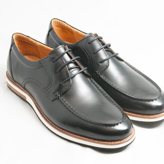Hand-dyed calfskin leather U-Tip casual shoes Derby shoes Men's shoes - Black - Free shipping - E2A19-99