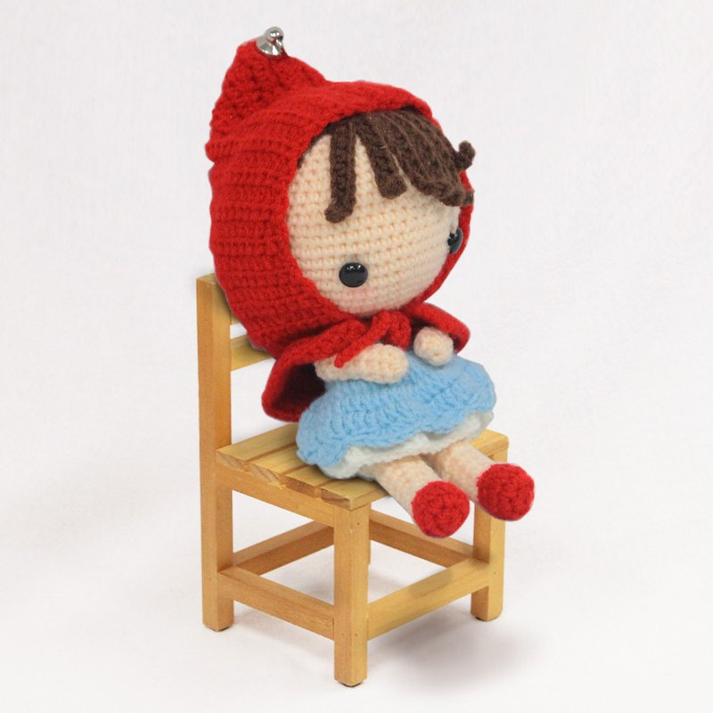 Handmade Wool Knit - Little Red Riding Hood Doll (reservation required)
