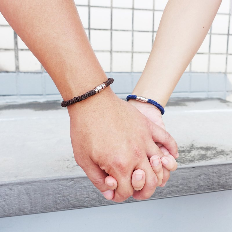 LINKOFLOVE連繫 - 限量客製磁扣防水編繩粗手環