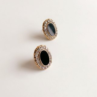 [Ancient] retro black fire section • Earrings