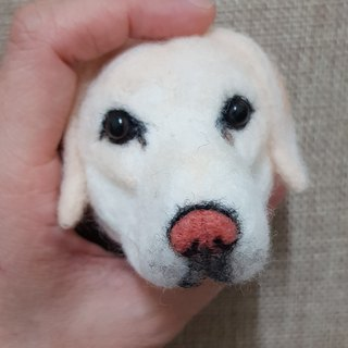 Wool felt Wang Xingren big head Meng imitation true version of the customized key ring short-haired dog area to ship next February
