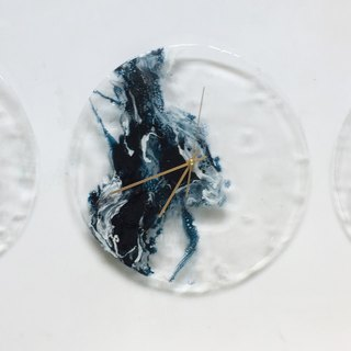 【Sea, Transparency, Handmade Wall Clock】30cm x 3