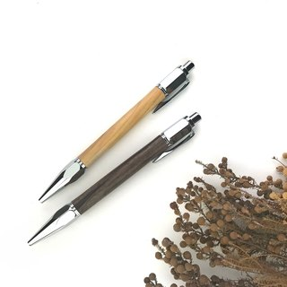 Hexagonal section ball pen / 2 kinds of logs