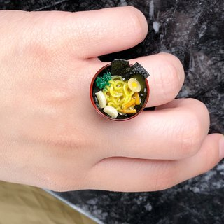 Japanese resin mini clay food ring Ramen thick