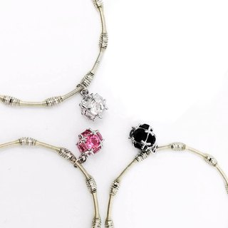 Snowballs Silver Beads Bracelet - Colors Option