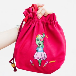 Embroidered Cotton Canvas Across-body Bag Can You See The Beautiful Flowers