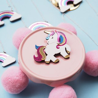 Unicorn Brooch 02