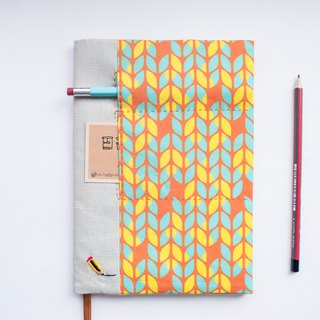 Sunburst Knits - adjustable A5 fabric bookcover