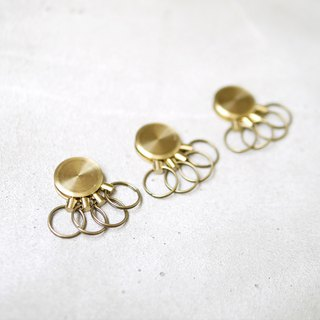 Japanese brass round movable key ring 2