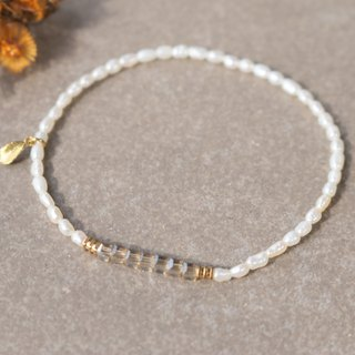 Pearl bracelet 0032-leaves