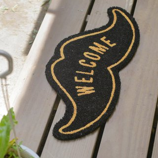 Grooming Geek- Gentleman Beard Shape Outdoor Mat (Natural)