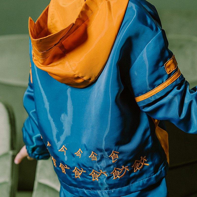 lrolio童裝男童外套2020年春款梭織連帽套頭拼色兒童上衣拜年服潮