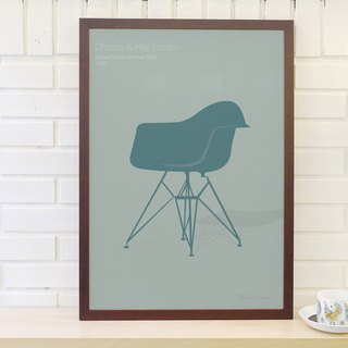 Nordic classic furniture poster Enames Armchair original customizable hanging painting without frame