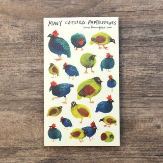 Many crested partridges sticker