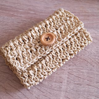 Natural language - paper hook business card holder / coin purse