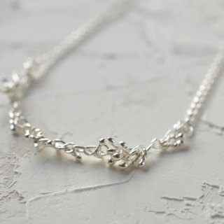 """surely"" pure silver necklace"