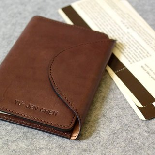 YOURS handmade leather leather arc cover magnetic deduction passport dark wood leather holster
