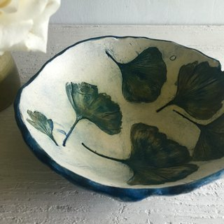 Ye Tuo Ginkgo Leaf Pottery Dish_Crockery Plate