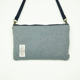HAZA touch dual phone bag / bag (with hook strap) denim blue