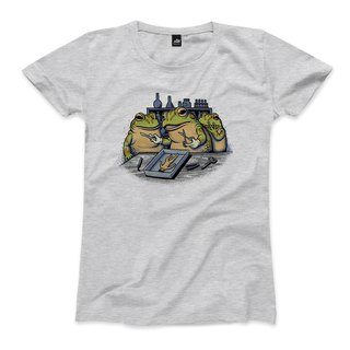 Frog Heart Profile - Deep Hemp Grey - Women's T-Shirt