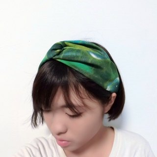 Green Planet cross hair band hairband*SK*