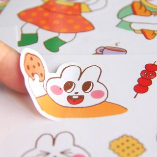 Sweet rabbit stickers