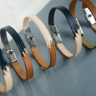<45 Degree Series> Genuine Leather Personalized Bracelet