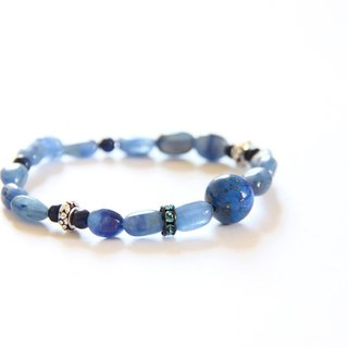 Fashion Jewelry series of energy - lapis lazuli stones aquamarine bracelet / Lapis Lazuli & blue quartz bracelet