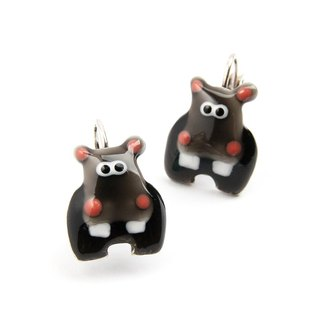 [France TARATATA Paris] animal party series hippo earrings