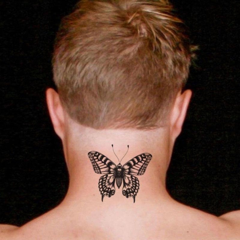 OhMyTat 蝴蝶人 Butterfly Men 刺青圖案紋身貼紙 (2 張)