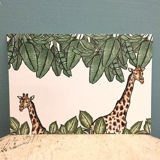 Giraffe double-sided printed postcards