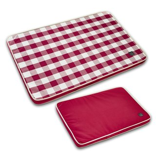 Lifeapp Pet Relief Sleeping Pad Large Plaid---L (Red White) W110 x D70 x H5