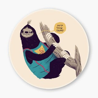 Snupped Ceramic Coaster - sloth