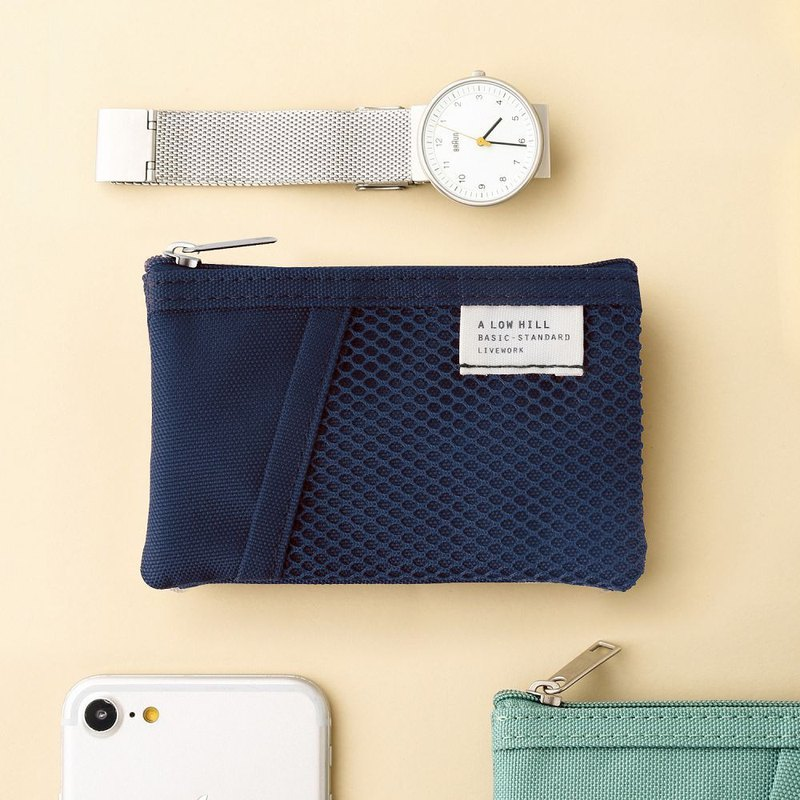 Livework leisure double double fold ticket card coin purse V2-Navy, LWK56269