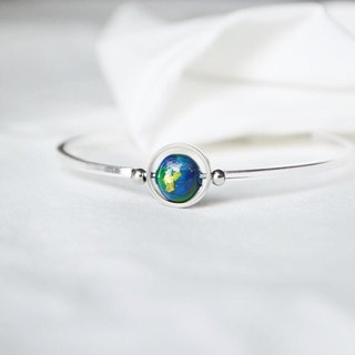earth bangle -- silver