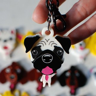 Pug / key ring / ornaments