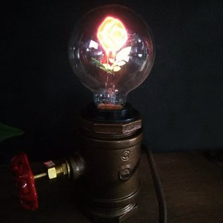 Valve maker rose bulb industrial wind creative night light gift