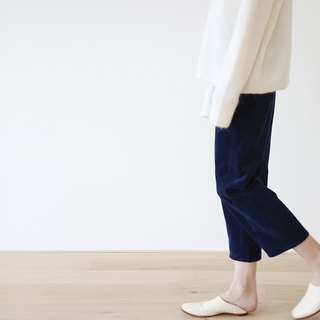 KOOW Japanese plant indigo dyed corduroy special tailored autumn and winter casual straight pants