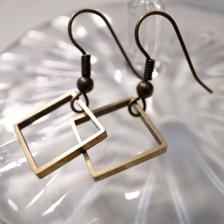 Bronze Ling Ge earrings (needle type)