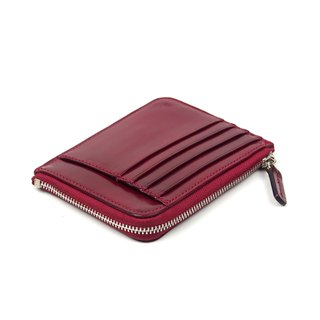 Card zip purse /Oxide RED