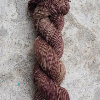 Hand dyed the line. Coffee cowboy. (4ply socks)