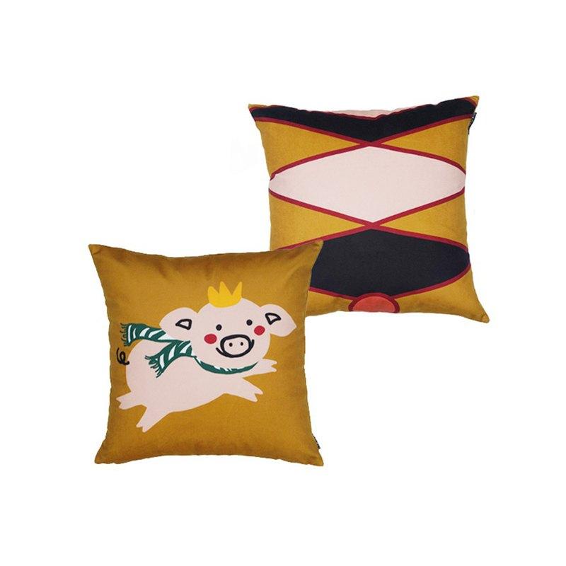 草稿CIAOGAO 原創設計沙發靠墊豬年抱枕套芯創意飛豬北歐卡通