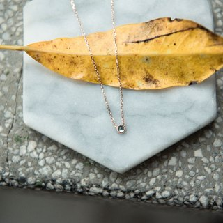 Sky blue fear stone rose gold necklace