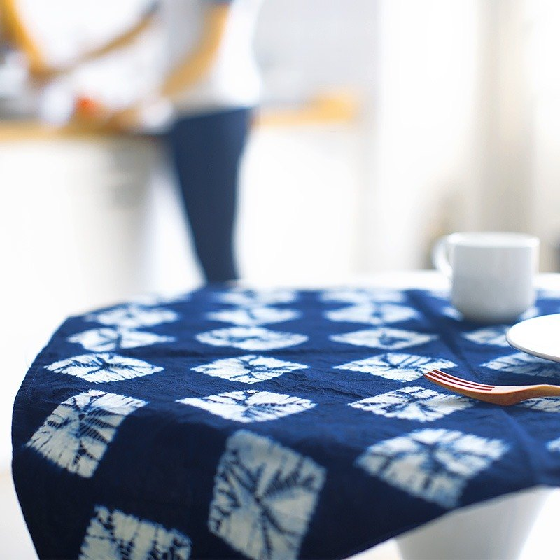 Indigo tie dye napkin, tablecloth, hand towel, placemat, bohemian throw