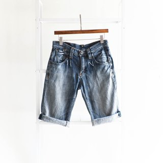 River Water - Lee / W29 Tokyo Electric Magic Youth Tattoo Cotton Tannin Antique Straight Shorts Furui denim pants vintage
