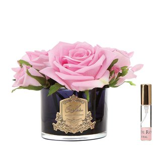CoteNoire Fragrance Flower - Five Pink Rose Fragrance Flowers
