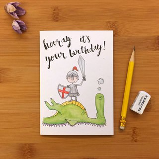 【LITTLE DIFFERENCE】HOORAY DRAGON GREETING CARD