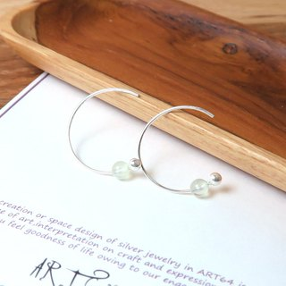 Grapevine Crescent Crescent (Small) - 925 Sterling Silver Natural Stone Ear Pin