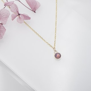 Swarovski Crystal Necklace (Color: Purple)